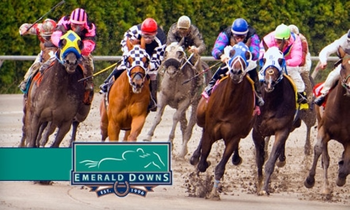 Emerald Downs - Auburn: $10 Admission to Emerald Downs Plus Program, Tip Sheet, and $10 Worth of Food and Drinks (Up to a $21.50 Value)