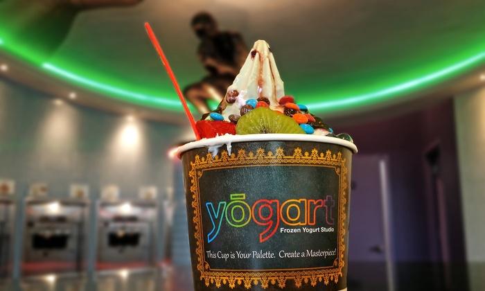 Yogart - Yogart Frozen Yogurt Studio: Frozen Yogurt and Hot Gourmet Deserts at Yogart (40% Off). Two Options Available.
