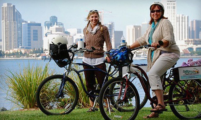 San Diego Fly Rides - Core-Columbia: Guided Electric-Bike Tour or Full-Day Electric-Bike Rental for Two or Four from San Diego Fly Rides (Up to 58% Off)