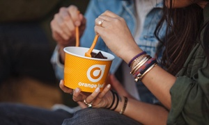 Orange Leaf Frozen Yogurt: Frozen Yogurt at Orange Leaf Frozen Yogurt (Up to 40% Off). Six Options Available.