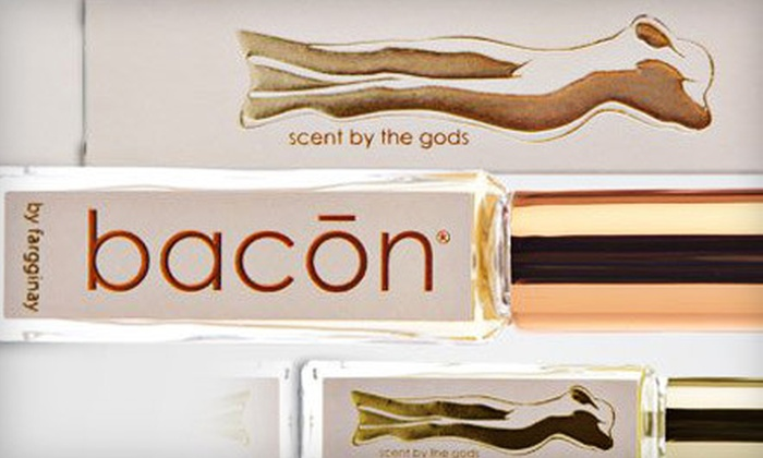 Bacon by Fargginay: Bacon-Scented Cologne from Fargginay (Half Off). Three Options Available.