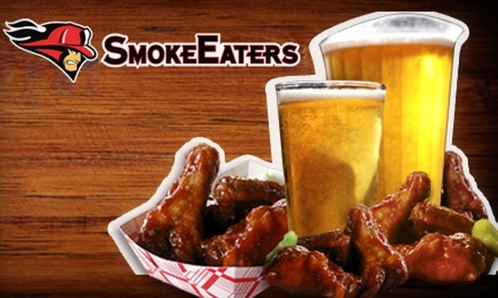 Smoke Eaters - Multiple Locations: $10 for $20 Worth of Wings, Beer, and More at Smoke Eaters