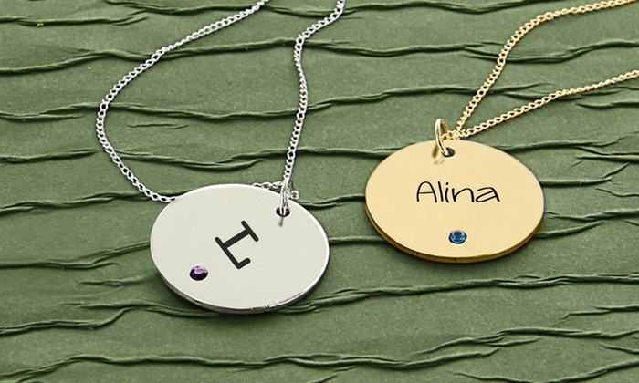 Personalized disc necklaces: Personalized Disc Necklaces from Monogram Online. Multiple Colors Available. Free Shipping.