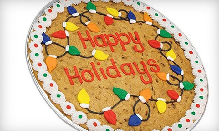 """Cookies By Design Chicago - Multiple Locations: 13"""" Chocolate-Chip-Cookie Cake or Two Dozen Gourmet Cookies at Cookies By Design (Up to 53% Off)"""