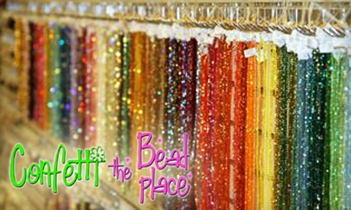 Confetti: The Bead Place - Sun City West: $10 for $20 Worth of Beads, Crystals, and More at Confetti: The Bead Place in Surprise