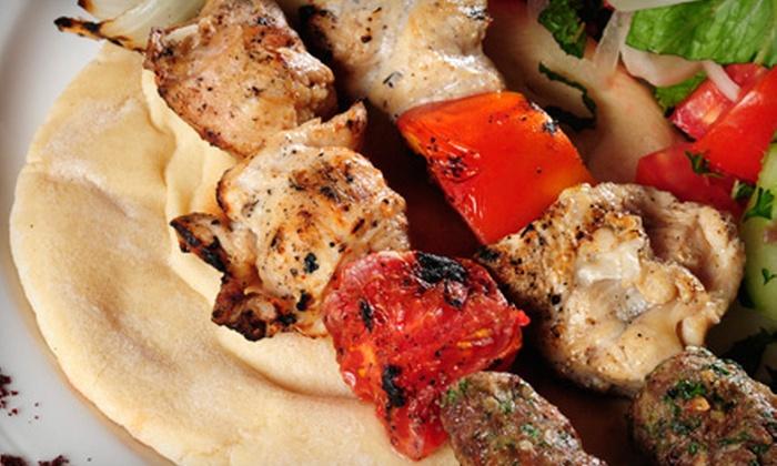 Pumpkin & Pecan Shish-Kabob Shop - Downtown,Northern Strip,Paradise Road: $8 for $16 Worth of Kebabs and Mediterranean Fare at Pumpkin & Pecan Shish-Kabob Shop