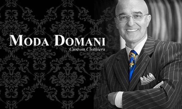 Moda Domani - Overland Park: $75 for $175 Worth of Fine Apparel at Moda Domani