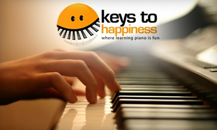 Keys to Happiness Piano Studio - Northside: $45 for an Introductory Simply Music Session, Four Piano Lessons, and Student Take-Home Materials from Keys to Happiness Piano Studio ($100 Value)