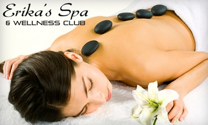 Erika's Spa and Wellness Club - Fort Wayne: $50 for a Hot Stone Renewal Package ($85 Value) or $47 for a Acupressure-Relief Massage Package ($80 Value) at Erika's Spa and Wellness Club