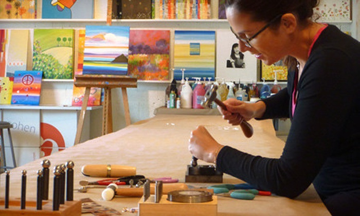 The Fun Palette - North Miami Beach: BYOB Painting Class for One or Four or Jewelry-Making Class for One at The Fun Palette (Up to 56% Off)