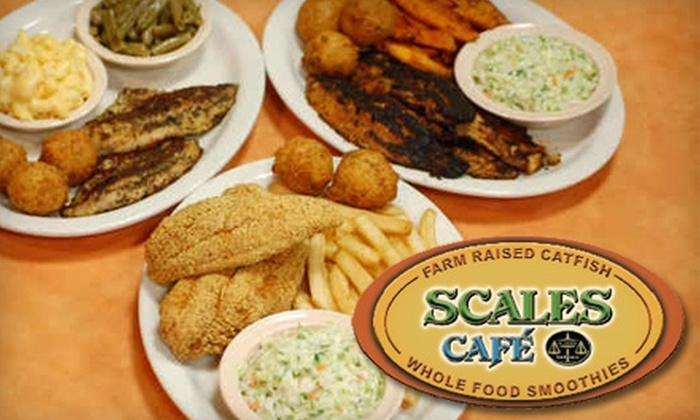 Scales Cafe - Kirby Trace Neighborhood Association: $7 for $15 Worth of Southern-Style Catfish, Healthy Smoothies, and More at Scales Café