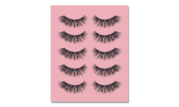 Temporary False Eyelashes (5-Pair)