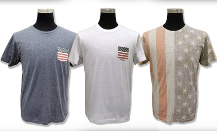 Brave Soul Men's Americana Tees (Sizes S & M)