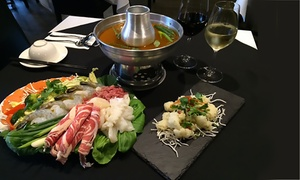 Moonsoon: Two-Course Vietnamese or Thai Steamboat with Wine for Two ($39) or Four People ($75) at Moonsoon (Up to $182 Value)