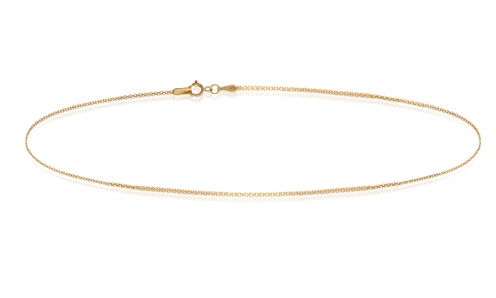 gold women and bracelet yellow hollow inch men dp rope cut chain for ac diamond anklet