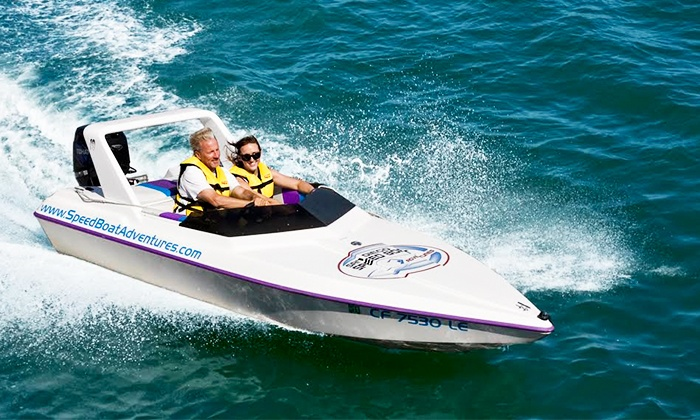 Tampa Speed Boat Adventures - Tierra Verde: $65 for a Speedboat Adventure Tour for Two from Tampa Speed Boat Adventures ($129.80 Value)