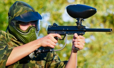 All-Day Paintball Outing with Rental Gear and Paintballs for 2, 4, or 10 at Playland (Up to 64% Off)