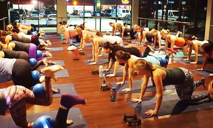 $35 for One Month of Hot Yoga, Hot Pilates, and Barre Classes at Balance Yoga Barre ($100 Value)