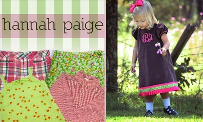 Hannah Paige - Irondale: $25 for $50 Worth of Children's Apparel at Hannah Paige