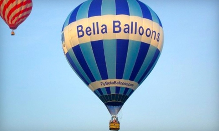 Bella Balloons - West Chester: $154 for One Spot on a Hot Air Balloon Ride and Postflight Champagne Toast at Bella Balloons ($250 Value)