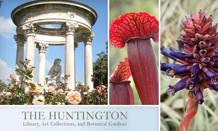 The Huntington Library, Art Collections, and Botanical Gardens - San Marino: $60 for a One-Year Membership to The Huntington Library, Art Collections, and Botanical Gardens in San Marino ($120 Value)
