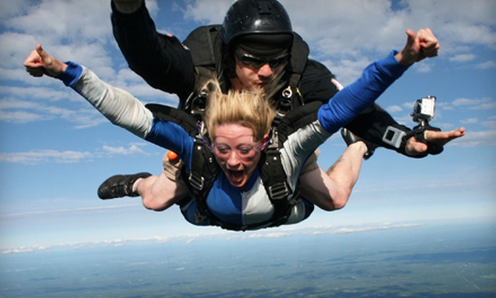 Central Maine Skydiving - Pittsfield: $138 for a Tandem Skydive from Central Maine Skydiving in Pittsfield ($230 Value)