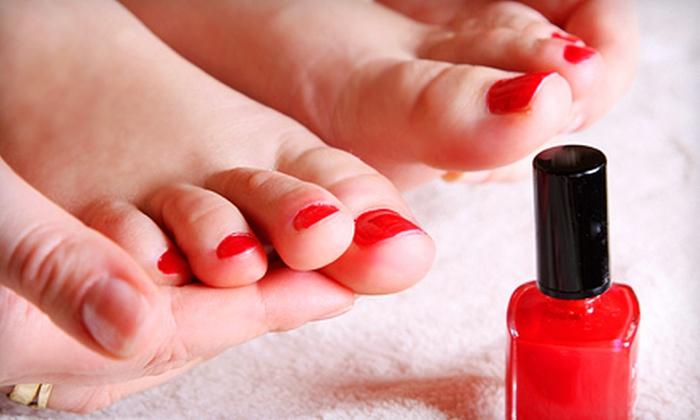 Ovation Salon - Hartley: Scented Pedicure or Moisturizing Manicure at Ovation Salon (Half Off)