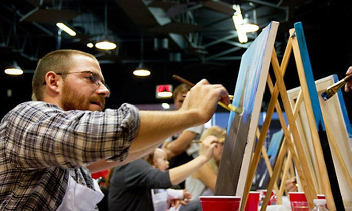 Texas U Can Paint - Southlake Plaza: Painting Classes at Texas U Can Paint in Southlake (Half Off). Two Options Available.