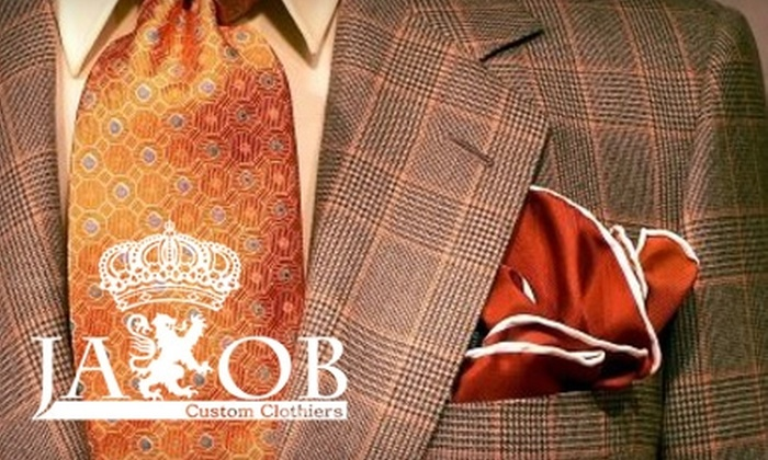 Jakob Custom Clothiers - Downtown: $75 for a Custom-Fitted Men's Shirt, Necktie, and Monogramming from Jakob Custom Clothiers ($190 Value)