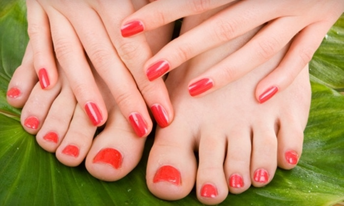 94 West Salon - Oakland: $40 for Shellac Mani-Pedi at 94 West Salon in Oakland ($80 Value)
