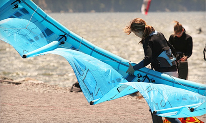 Helm of Sun Valley - San Mateo: $20 for a Two-Hour Kiteboarding Lesson at Helm of Sun Valley in San Mateo ($60 Value)