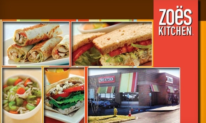 Zoes Kitchen - Woodbridge: $10 for $20 Worth of Kabobs, Roll-Ups, Made-to-Order Dishes, and More at Zoe's Kitchen