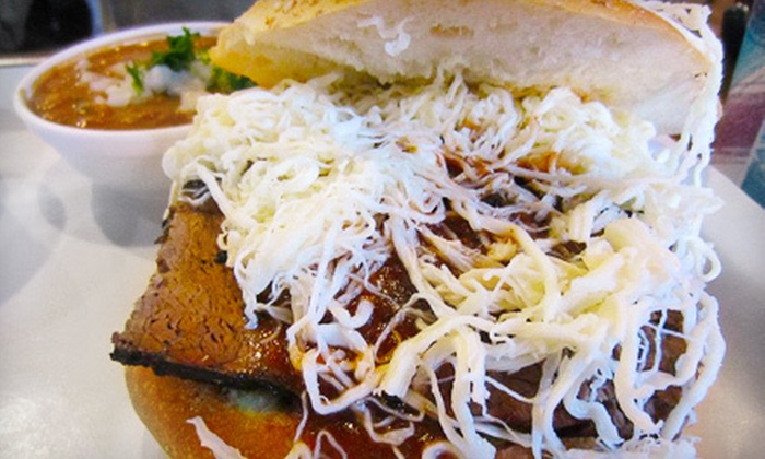 Cemitas Puebla - Humboldt Park: Mexican Meal with Chalupas, Cemitas, and Drinks for Two or Four at Cemitas Puebla (Up to 55% Off)