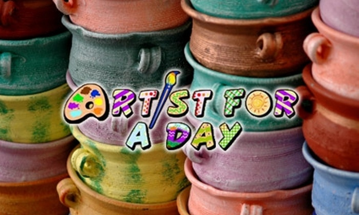 Artist For A Day - North Olmsted: $10 for $23 Toward Studio Fee and Blank Pottery Piece at Artist For A Day