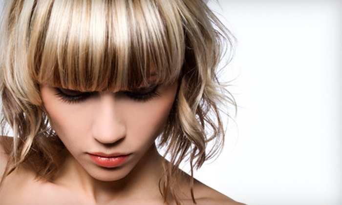 Social Agenda Salon & Boutique - Jackson: Custom Conditioning and Highlighting Treatments with Blow-Dry and Style from Sara at Social Agenda Salon & Boutique (Up to 66% Off). Three Options Available.