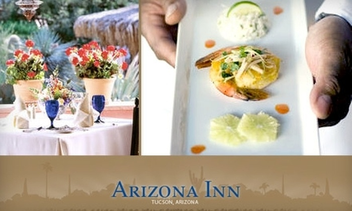 Arizona Inn - Catalina Vista/Blenman-Elm: $30 for $70 Worth of Internationally Inspired Fine-Dining Fare at Arizona Inn