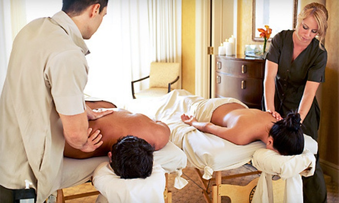 La Bella Day Spa and Salon - Upland: 30- or 60-Minute Couples Massage with Chocolates and Champagne at La Bella Day Spa and Salon (Half Off)