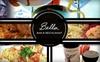 Bella Bar & Restaurant - Oak Lawn: $15 for $35 Worth of Haute Bar Fare at Bella Bar & Restaurant