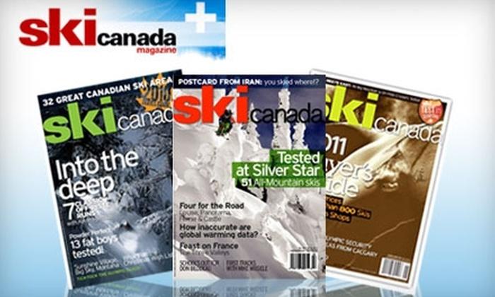 "<i>Ski Canada</i> Magazine: $12 for 10 Issues of ""Ski Canada"" Magazine ($28.25 Value)"