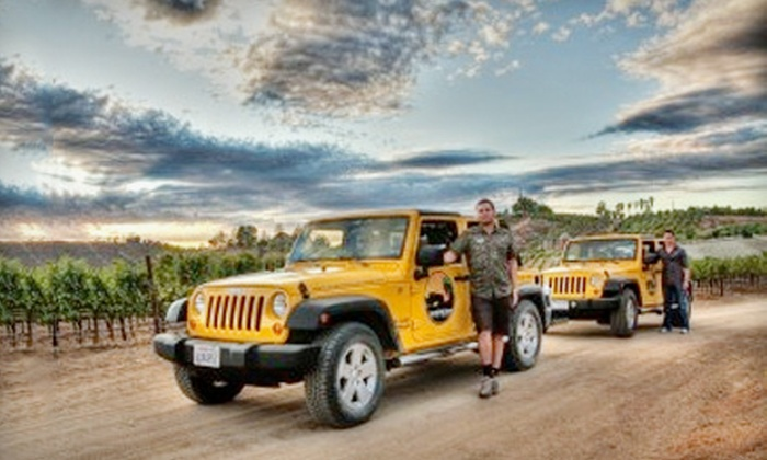 Sunrider Tours - Multiple Locations: Private Wine Tasting in a Jeep for Up to Six People During the Week or on the Weekend from Sunrider Tours