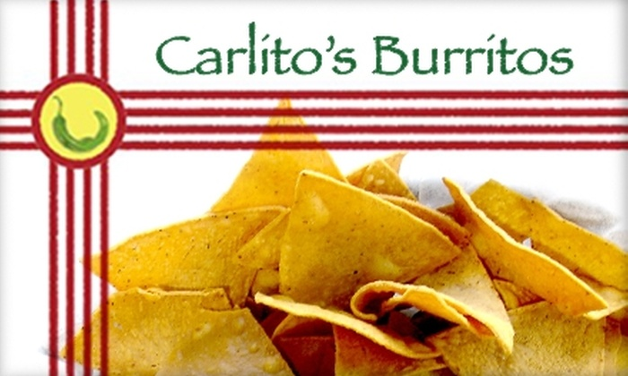 Carlito's Burritos - Paradise: $6 for $15 Worth of New Mexican Eats and Refreshing Drinks at Carlito's Burritos