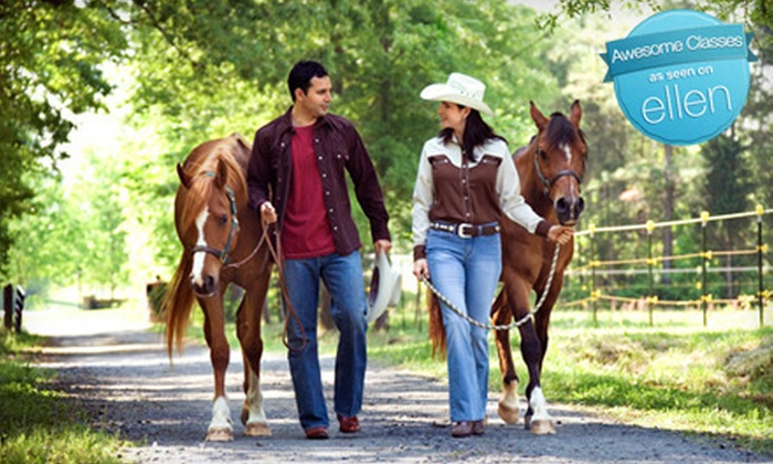 Latta Equestrian Center - Huntersville: $12 for a Guided Trail Ride at Latta Equestrian Center in Huntersville ($25 Value)