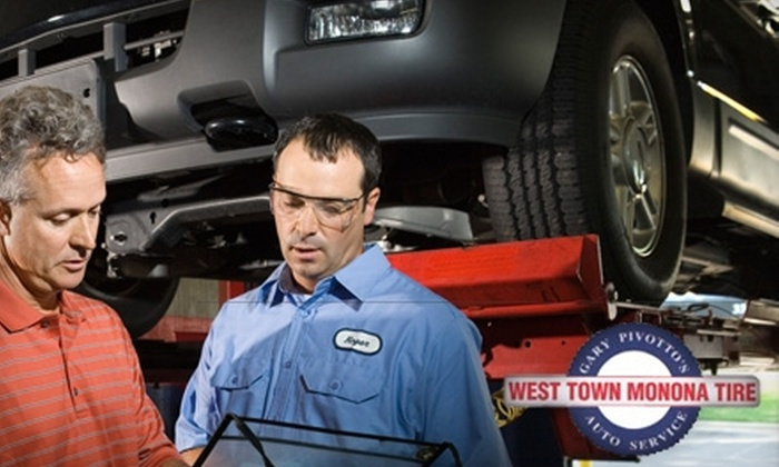 West Town Monona Tire - Madison: $16 for an Oil Change and Inspection at West Town Monona Tire ($32 Value)