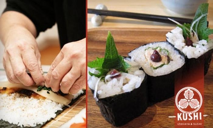 Kushi - Mount Vernon Square: $25 for $50 Worth of Sushi and More at Kushi