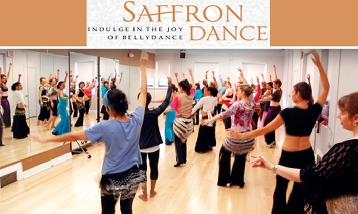 Saffron  Studios - Multiple Locations: $39 for Four Belly-Dance Classes and Hip Scarf at Saffron Dance ($80 Value). Buy Here for the April Course. See Below for Additional Dates.