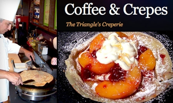 Coffee & Crepes - Cary: $10 for $20 Worth of Creative Crêpes and Café Beverages at Coffee & Crepes