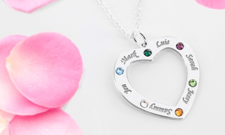 Family Necklace Personalized with Names and Birthstones from Monogram Online (Up to 68% Off). Two Options Available.