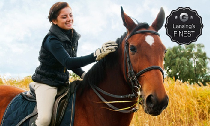 Luton Training Center - Williamston: One or Two 45-Minute Private Horseback-Riding Lessons at Luton Training Center (Half Off)