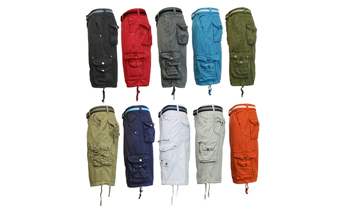 Men's Belted Cargo Shorts Mystery Deal (2-Pack)