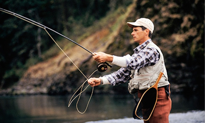 The Hook Up Outfitters - Peoria: $89.99 for a Fly-Fishing Lesson with Casting Instruction and All-Day Rod Rental from The Hook Up Outfitters ($195 Value)